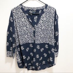 Lucky Brand 3/4 Sleeve Top | Size Large